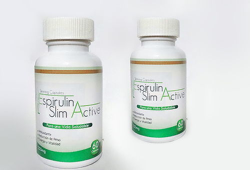 74% 2 Frascos Espirulina SlimActive
