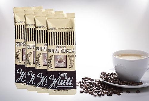 Pack 4 Paquetes de Café de Moka Haiti en Grano o Molido