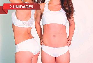 2 Bipack de Pantaleta, Colaless o Bikini Blancos, Karmy!