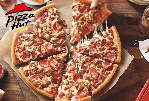 Pizza Hut Familiar 3 Ingredientes + Acompañamiento