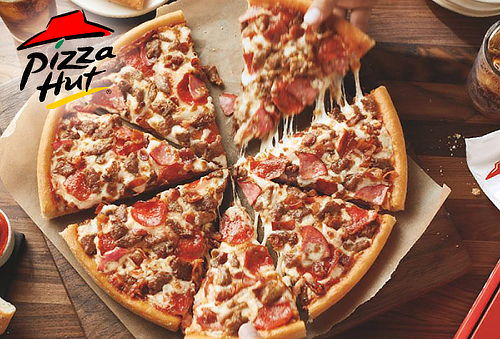 Pizza Hut Familiar 3 Ingredientes + Acompañamiento