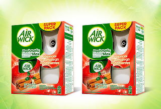 Pack 2 Air Wick Freshmatic Manzana Canela