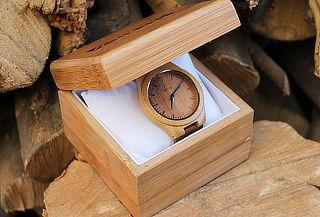 Reloj Bambú Natural marca Nerfis