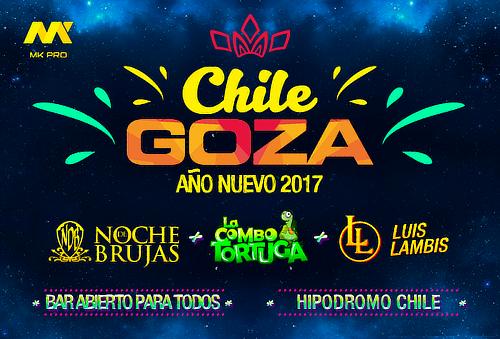 Fiesta de Año nuevo Chile Goza 2017, Hipodromo Chile.