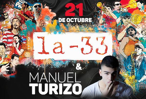 Concierto La 33 y Manuel Turizo