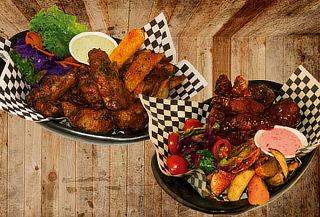 Alitas Coreanas+BBQ de Pig Wings para 2 Personas en Bulevar