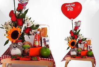 Desayuno Con Mug, Globo Inflable  Flores Domicilio