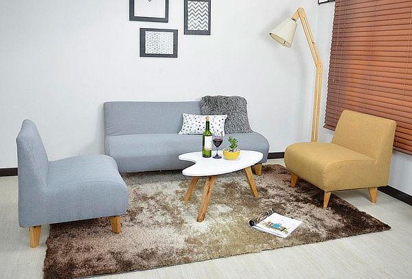 Sala Oslo Sofá de 3 Puestos, 2 Poltronas, 1 Mesa de Centro
