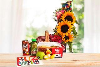 Desayuno Picnic con Arreglo Floral a Domicilio