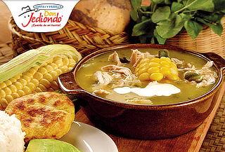 Don Jediondo: 2 Ajiacos con Pollo + 1 Entrada de Rellena