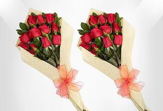 2x1 Bouquets de 12 Rosas Tipo Exportación + Envío Incluido