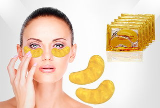 Set de 5 o 10 Pares de Mascarillas Crystal Collagen Gold