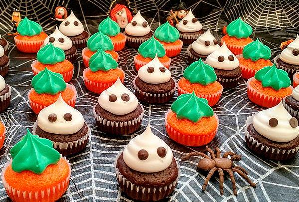 144 Mini Cupcakes de Halloween