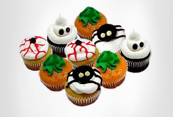 Caja 20 o 40 Cupcakes Hallowen + 12  Mini Cupcakes
