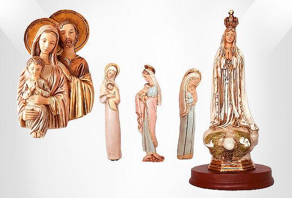 Virgen Maria x 3 o Virgen de Fatima o Sagrada Familia