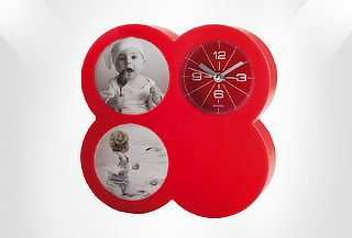 Reloj Portaretrato con Alarma Color Rojo