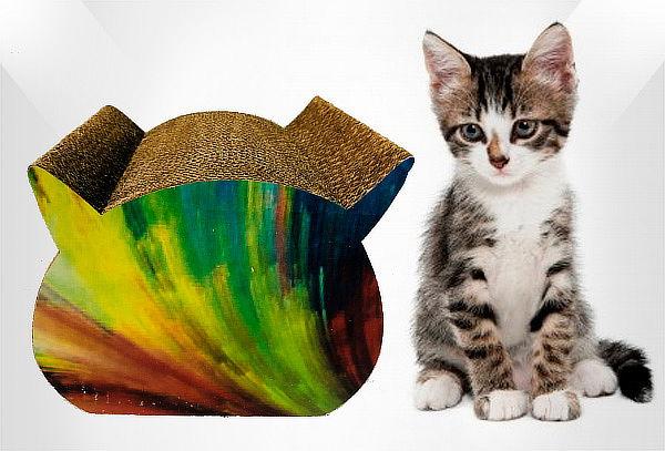 Rascador Total para Gato en Cartón Corrugado Tamaño a Elegir
