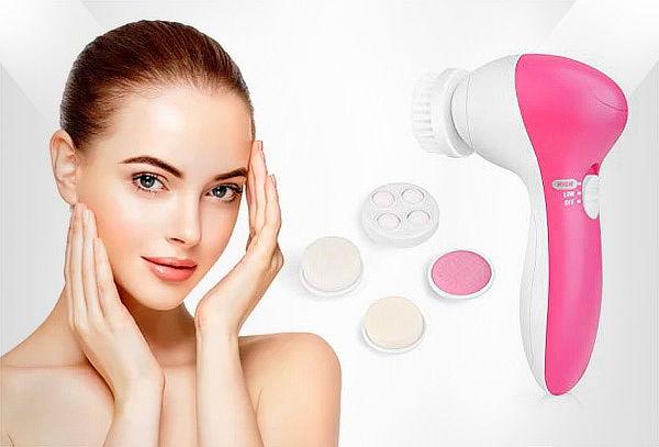 Limpiador y Masajeador Facial Eléctrico 5 en 1