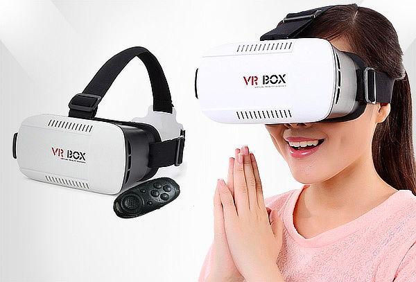 Gafas VR Box con Control Tipo Bluetooth 4 en 1