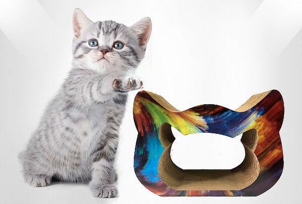 Rascador Abierto Gato en Cartón Corrugado Tamaño a Elegir