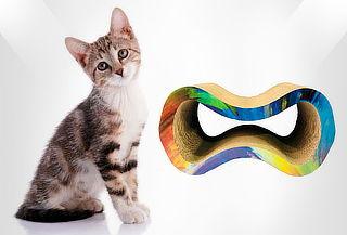 Rascador Galáctico Abierto para Gato en Cartón Corrugado