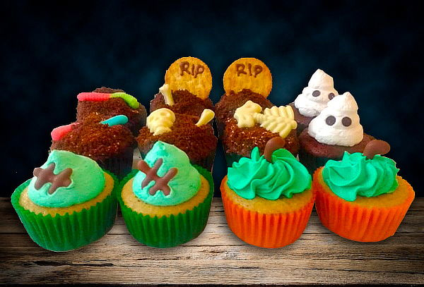 48 Cupcakes Medianos o 18 Cupcakes Grandes Halloween