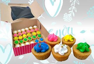 100 Mini Cupcakes  Decorados a Domicilio