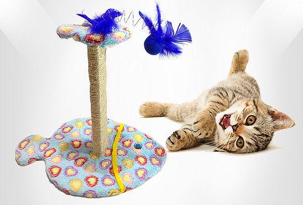 Rascador para Gatos en Forma de Pescado