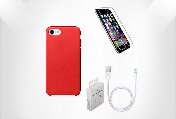 Cable+ Vidrio Protector + Jelly Case Color a Elección