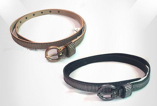 2x1 Cinturón Cuero Sintético Brillo para Mujer