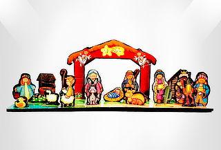 Pesebre Decorativo en Imán