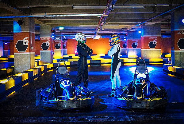 Carrera de Karts en C.C. Santafé
