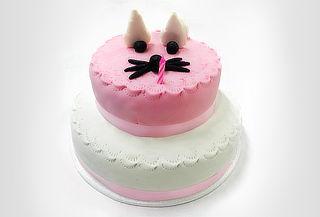 Torta en Forma de Gato de 2 Pisos Para 20 Porciones