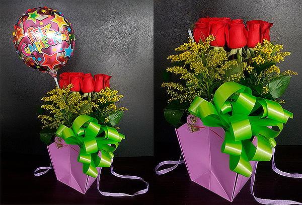 Canasta 15 Rosas Exportación + Obsequio
