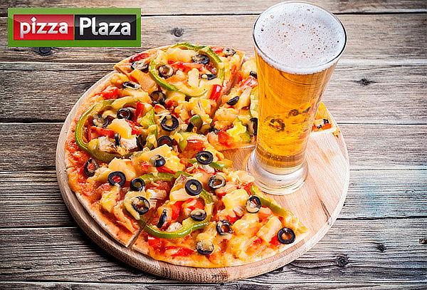 Pizza Grande de 8 Porciones + 2 Cervezas en el Poblado