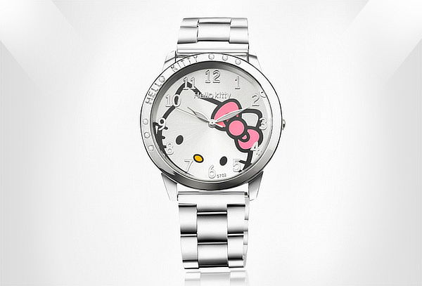 Reloj Hello Kitty Plateado