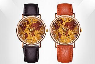 Reloj Mapa Elegante