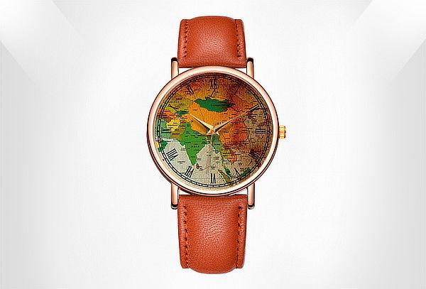Reloj Mapa Elegante Color a Elección
