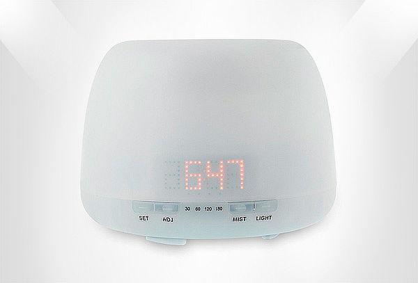Difusor De Aromas Humidificador Aromaterapia 400ml Reloj Led