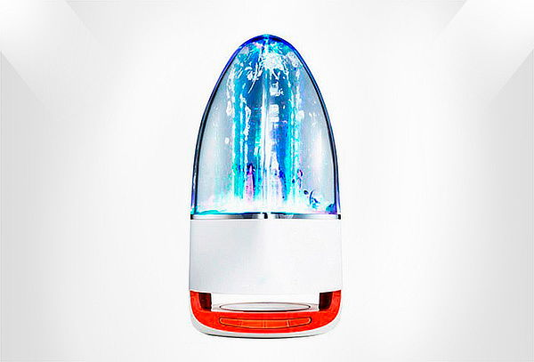 Parlante F1 6w Con Bluetooth Fuente De Agua Micro Sd Aux