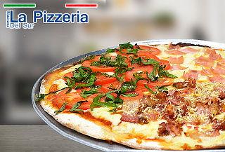Pizza Mediana +Té Helado, Elige Sede La Pizzería del Sur