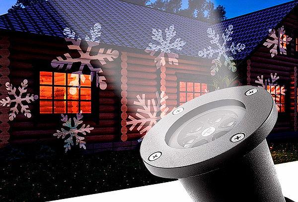 Luces Star Led Proyector Láser Copo De Nieve