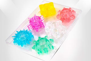 Set X 6 Anillos Retardantes Colors.