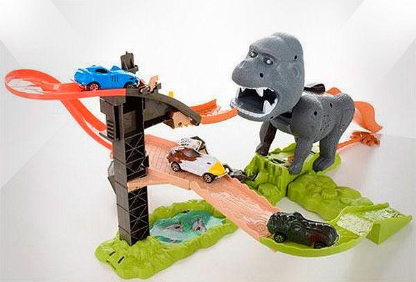 Pista de Carros King Kong Gorila con Sonidos