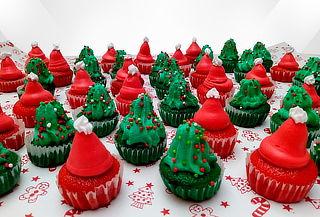 144 Mini Cupcakes Para Navidad