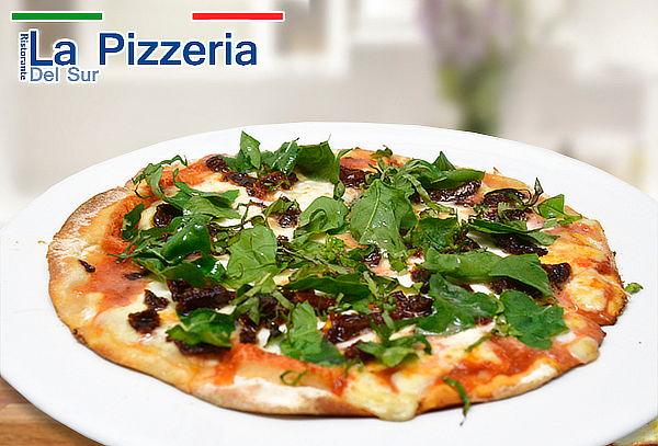 La Pizzería del Sur: Pequeña, Mediana ó Grande + Té Helado