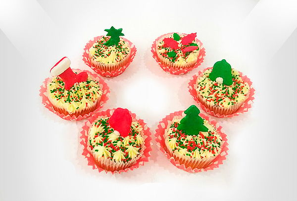 36 Mini Cupcakes para Navidad