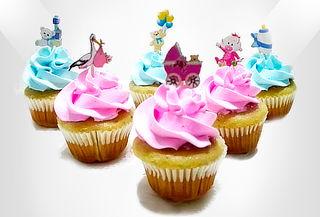 42 Cupcakes Rellenos Medianos Junior Baby Shower, Bautizo