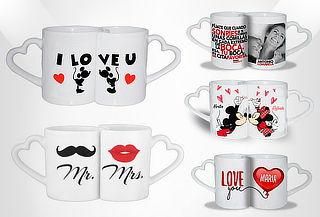 Mug con Diseño Personalizado y Oreja Corazón