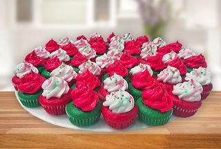 100 Mini Cupcakes Navideños a Domicilio